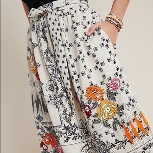 ANTHROPOLOGIE | NWT Vineet Bahl Embroidered Skirt